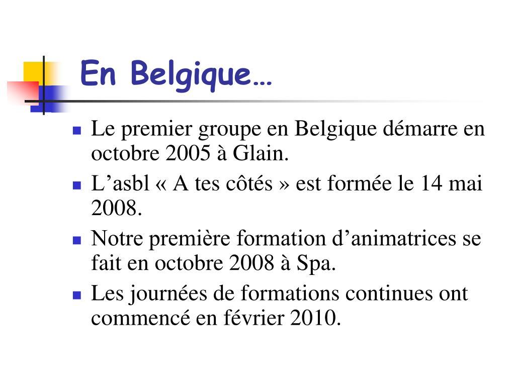 En Belgique…