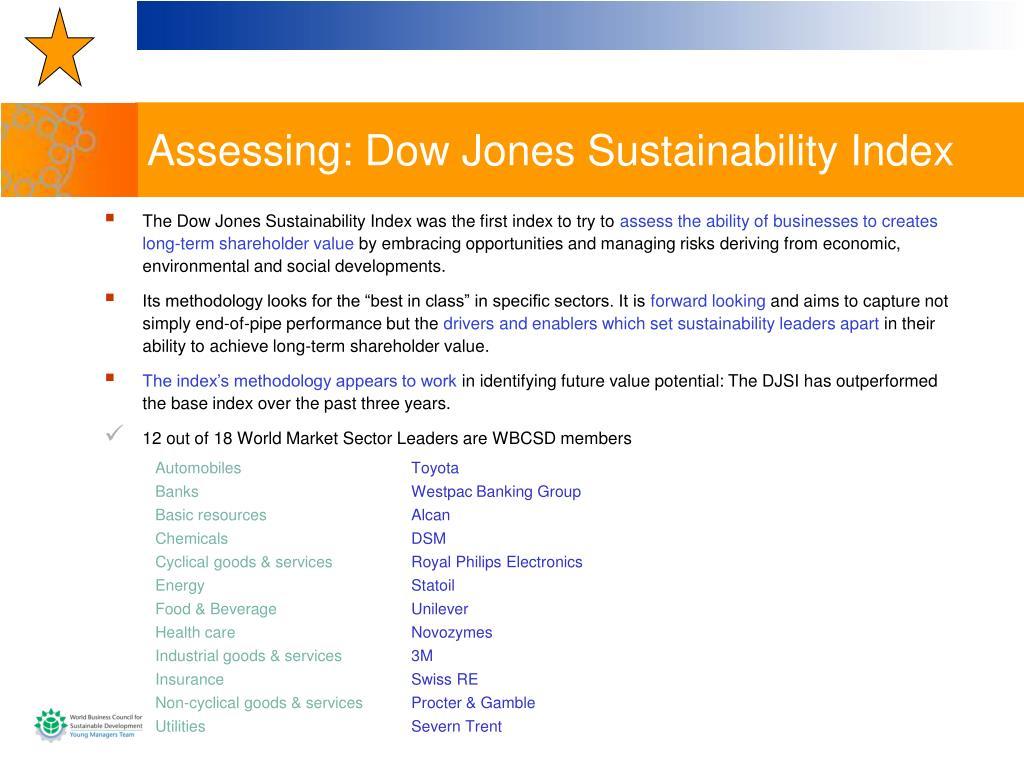 Assessing: Dow Jones Sustainability Index