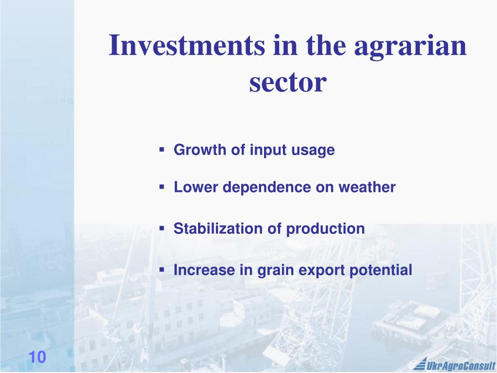 Investments in the agrarian sector