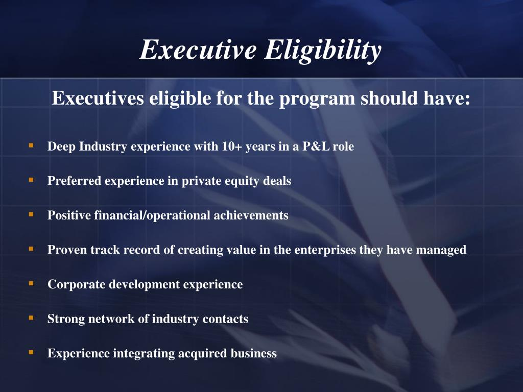 Executive Eligibility