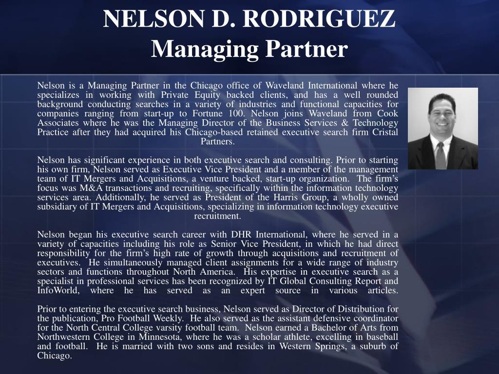 NELSON D. RODRIGUEZ