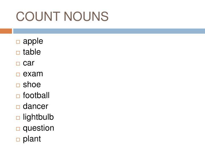 COUNT NOUNS