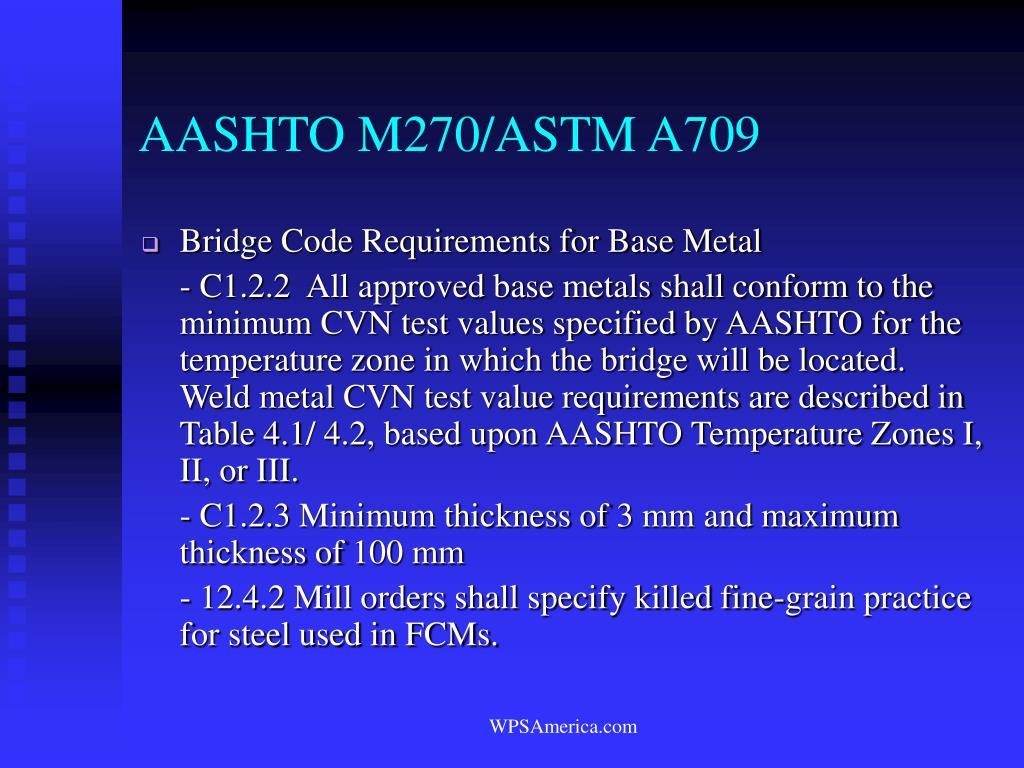 AASHTO M270/ASTM A709