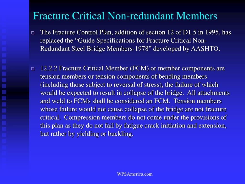 Fracture Critical Non-redundant Members