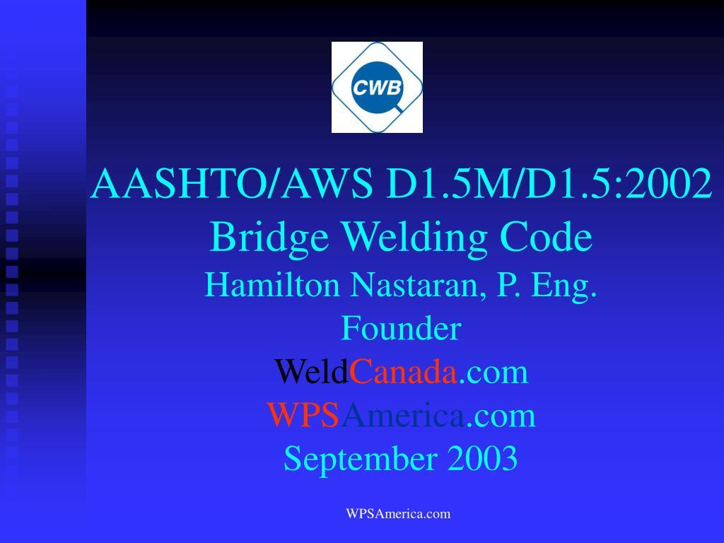 AASHTO/AWS D1.5M/D1.5:2002