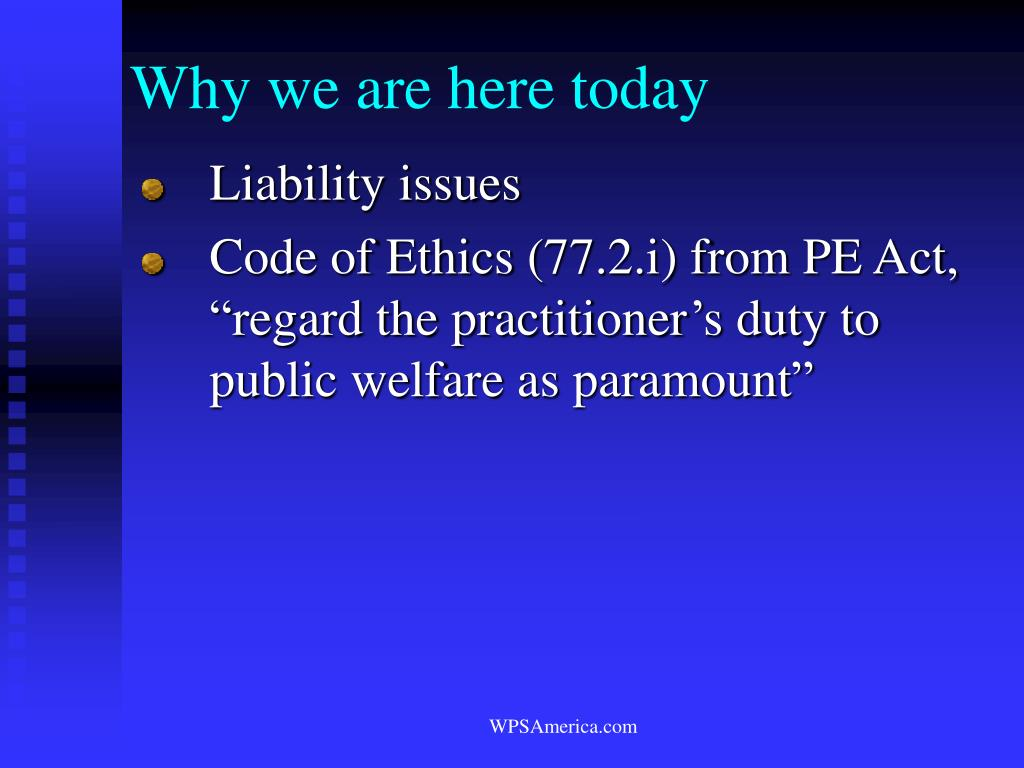 Why we are here today