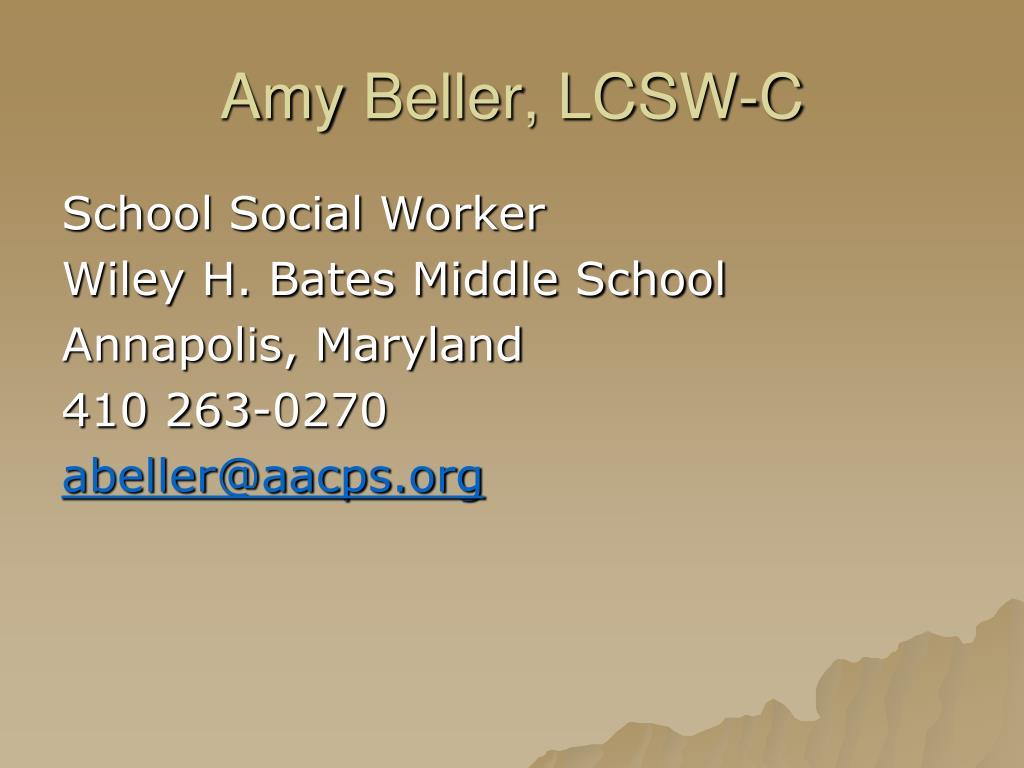 Amy Beller, LCSW-C
