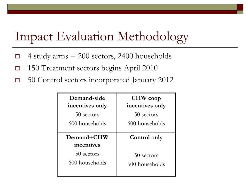 Impact Evaluation Methodology