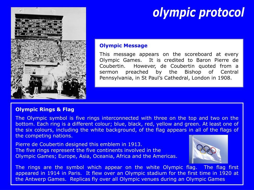olympic protocol