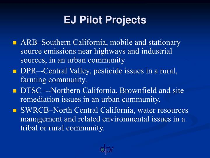 EJ Pilot Projects