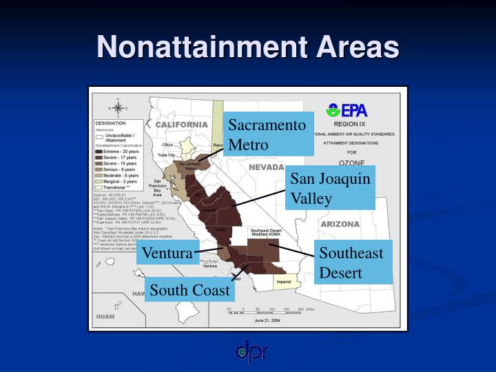 Nonattainment areas