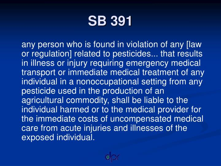 SB 391
