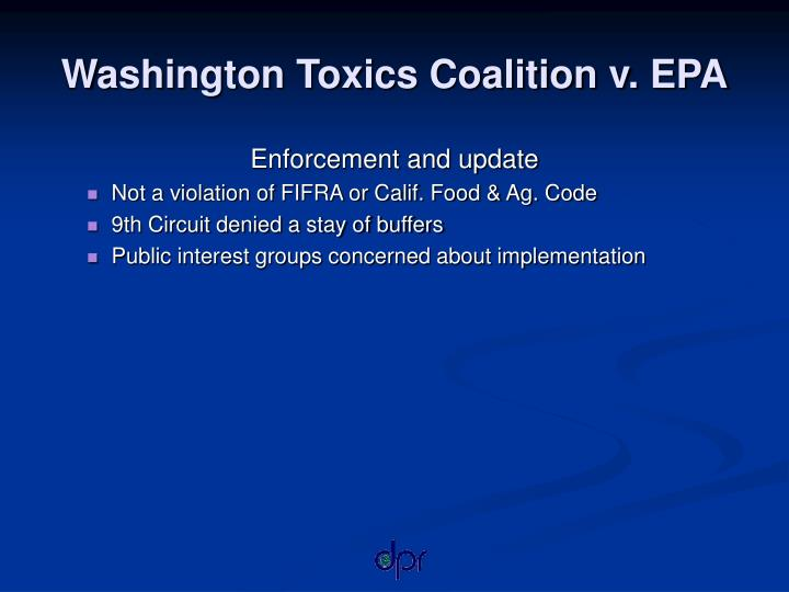 Washington Toxics Coalition v. EPA