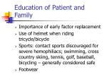 education of patient and family