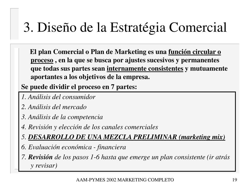 3. Diseño de la Estratégia Comercial