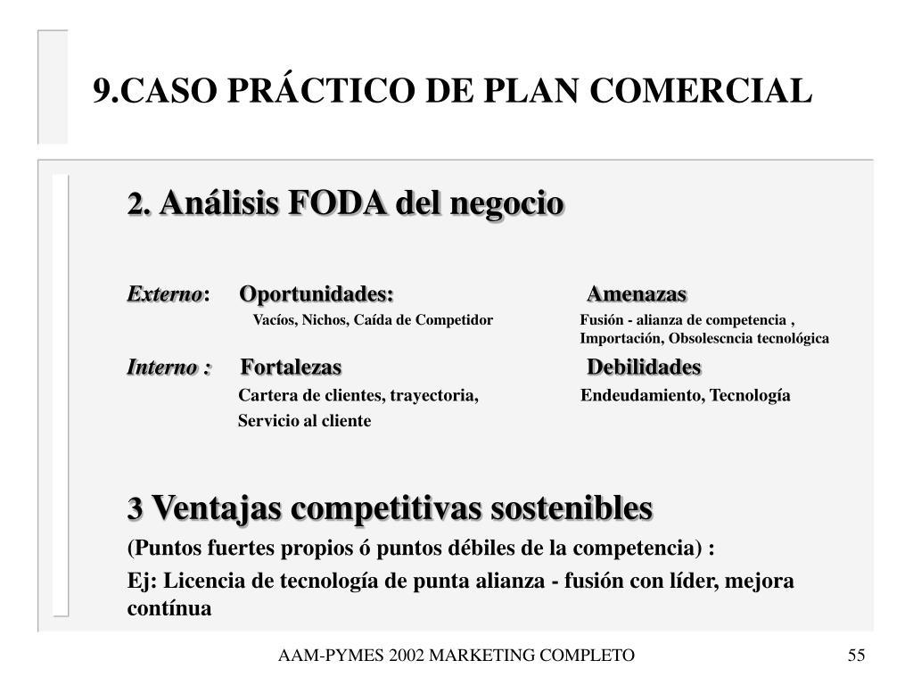 9.CASO PRÁCTICO DE PLAN COMERCIAL