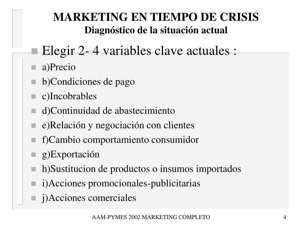 MARKETING EN TIEMPO DE CRISIS