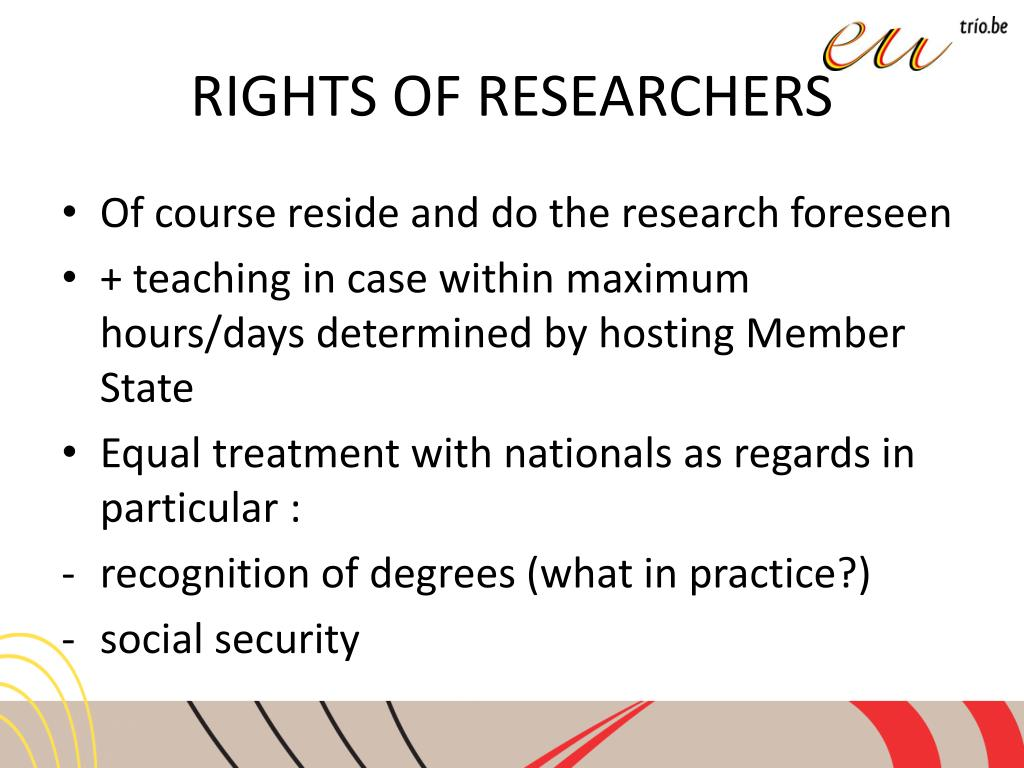 RIGHTS OF RESEARCHERS