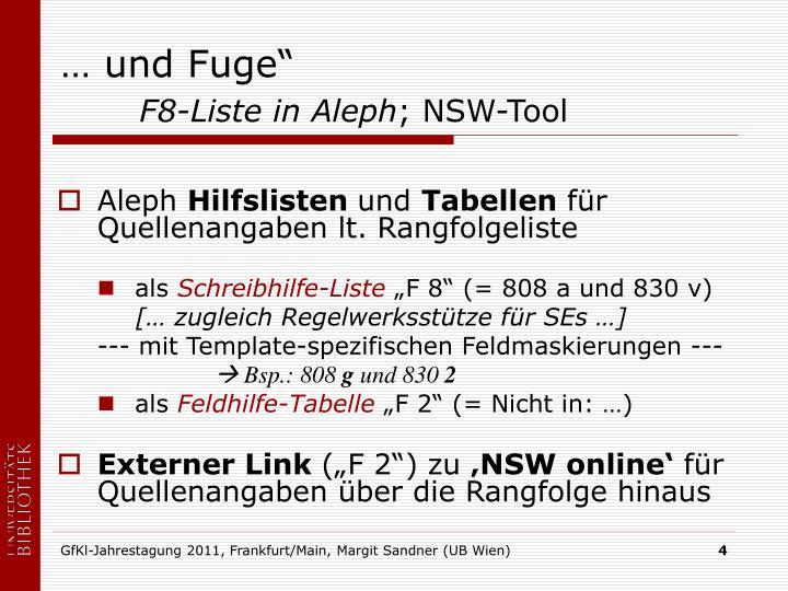 """… und Fuge"""""""