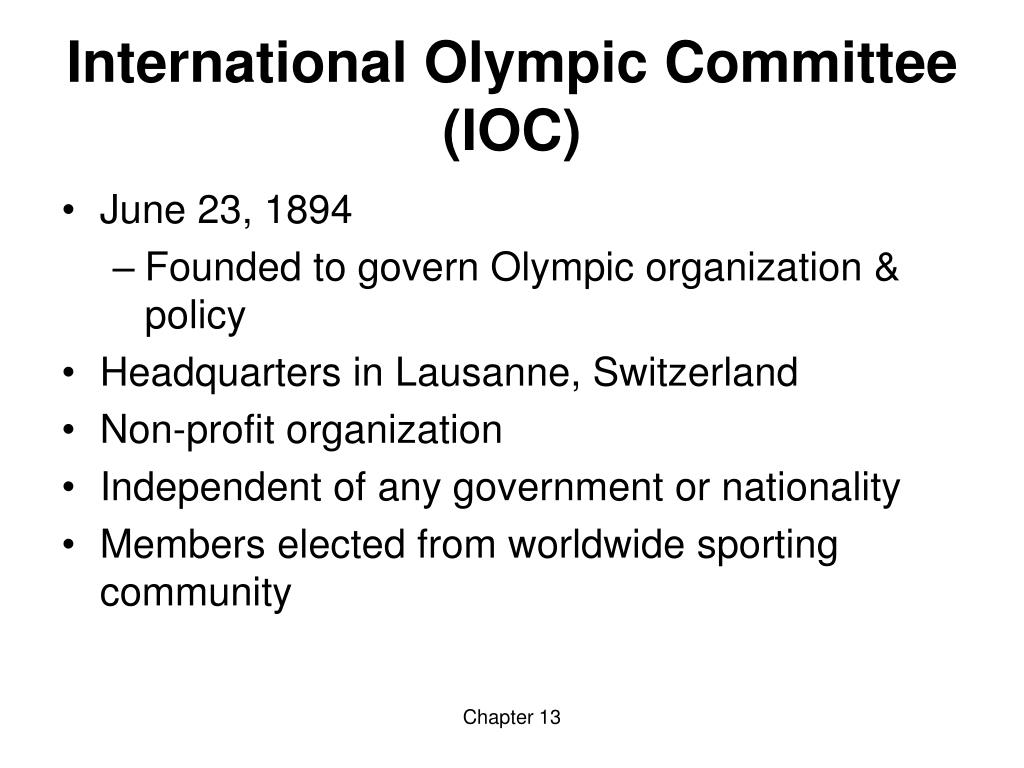International Olympic Committee (IOC)