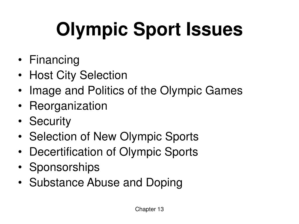 Olympic Sport Issues