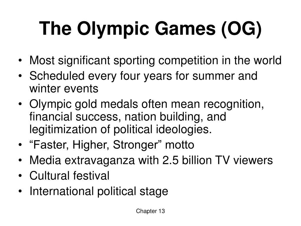 The Olympic Games (OG)
