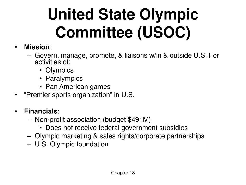 United State Olympic Committee (USOC)