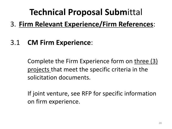 Technical Proposal Subm