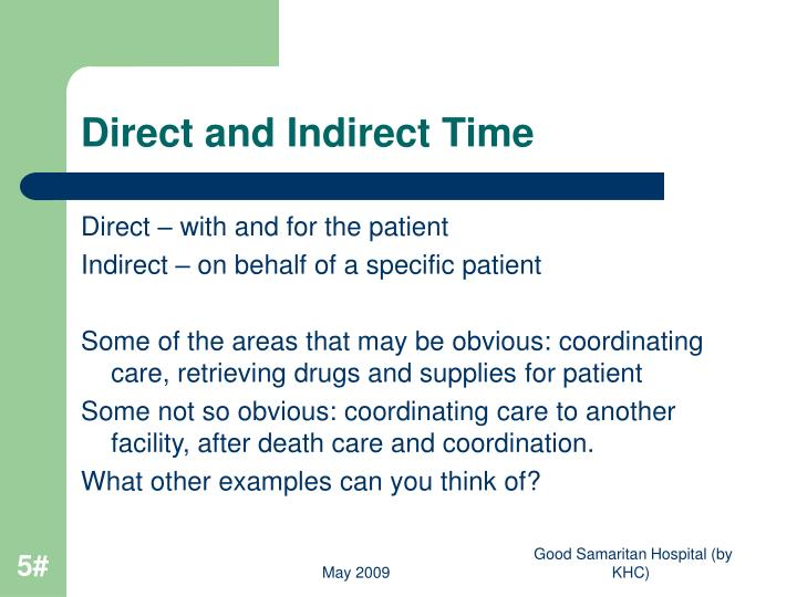 Direct and Indirect Time