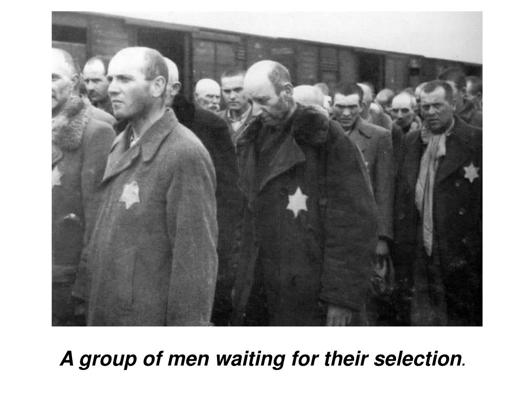A group of men waiting for their selection