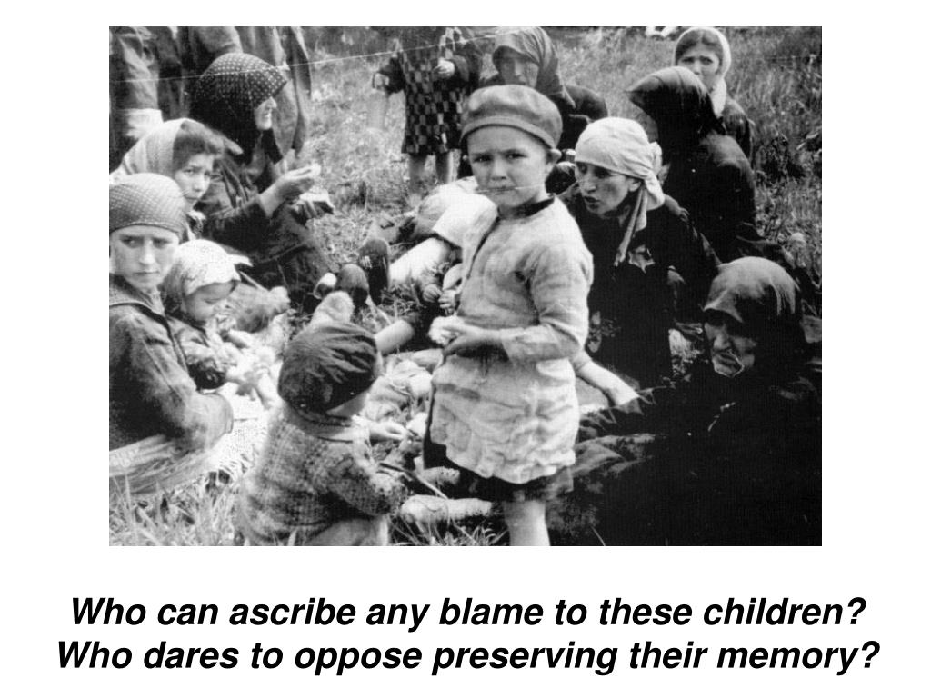 Who can ascribe any blame to these children?