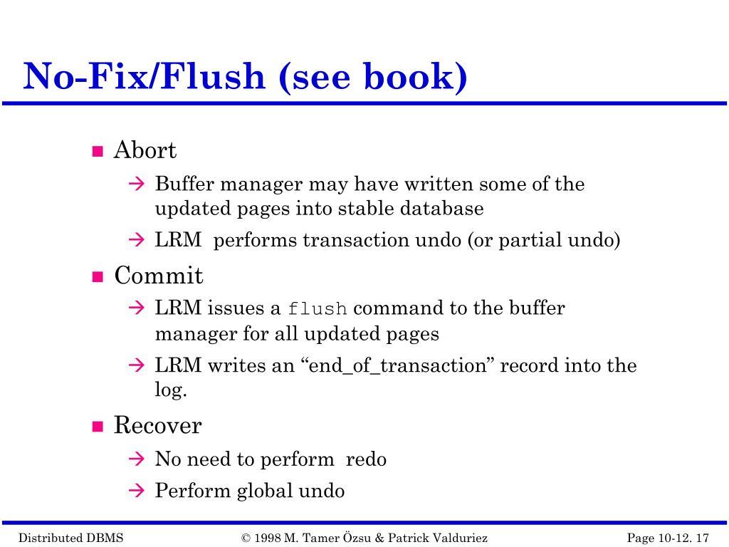 No-Fix/Flush (see book)