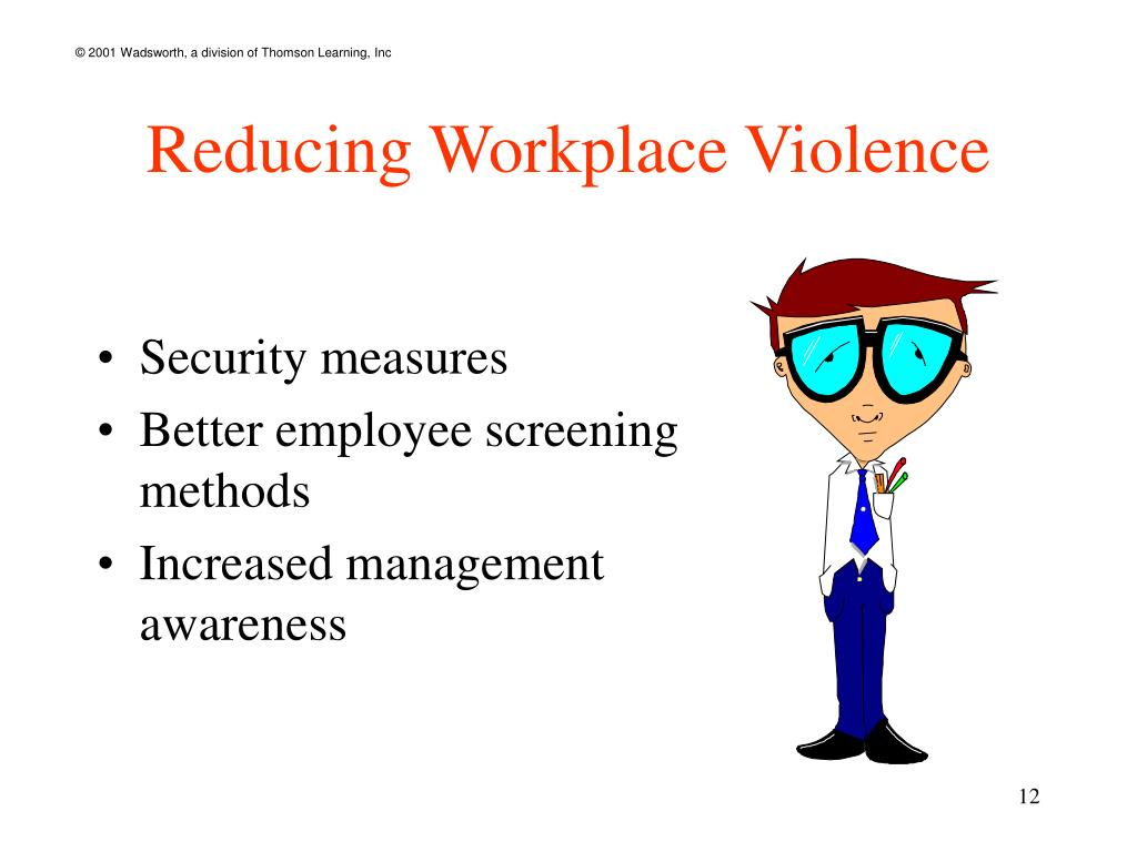 Reducing Workplace Violence
