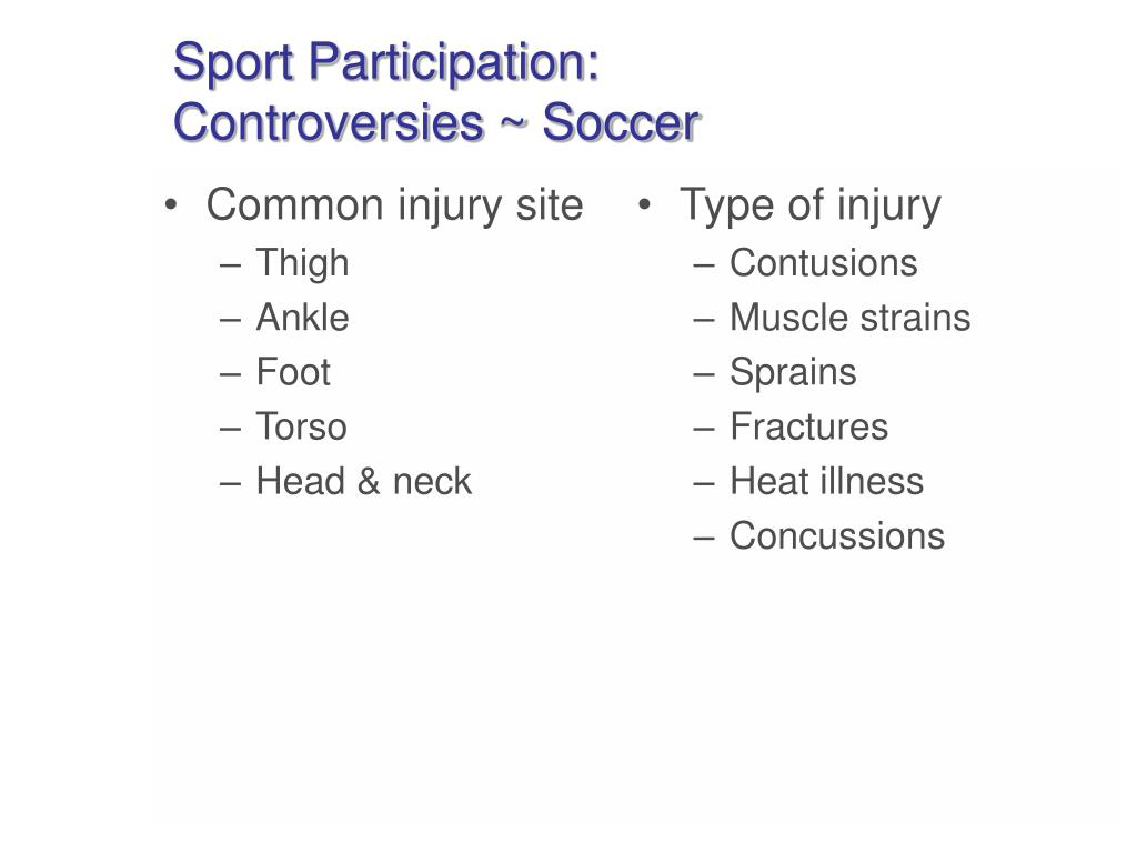 Common injury site