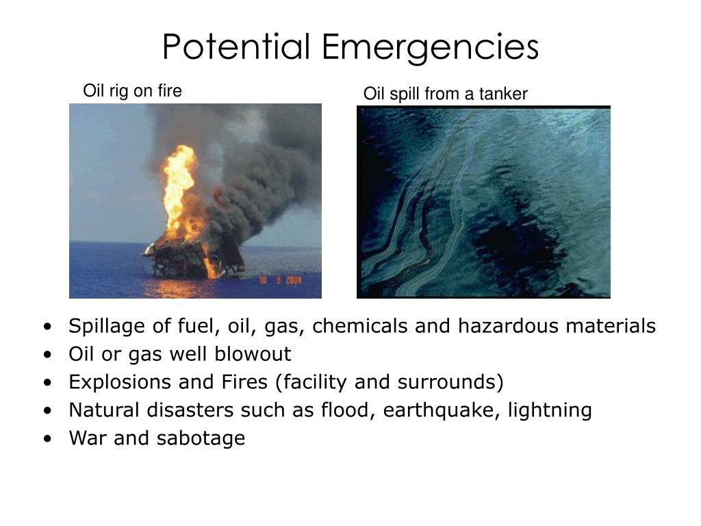 Potential Emergencies