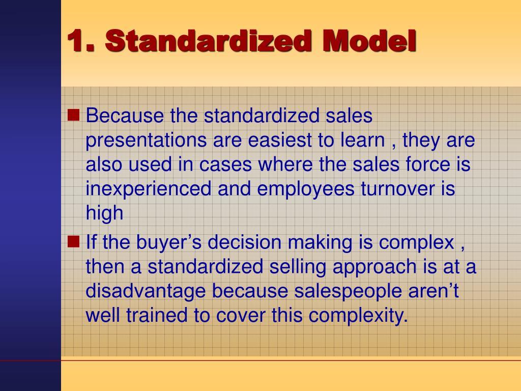 1. Standardized Model