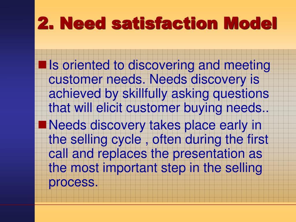 2. Need satisfaction Model