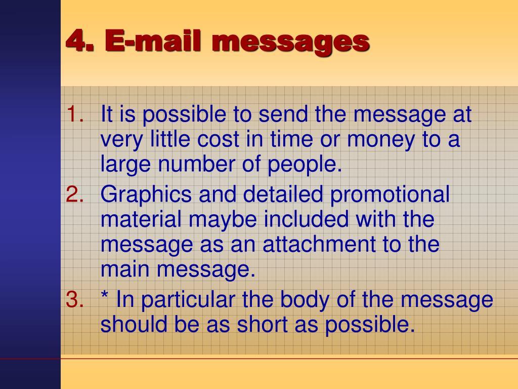 4. E-mail messages