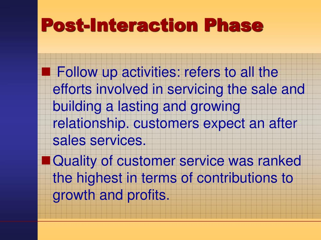 Post-Interaction Phase
