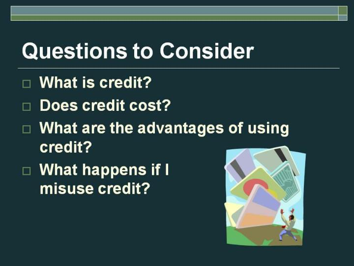 The things you should know about credit