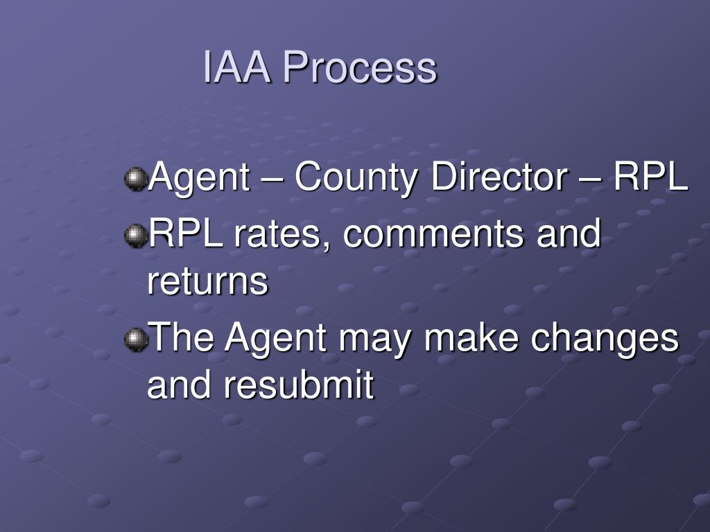 IAA Process