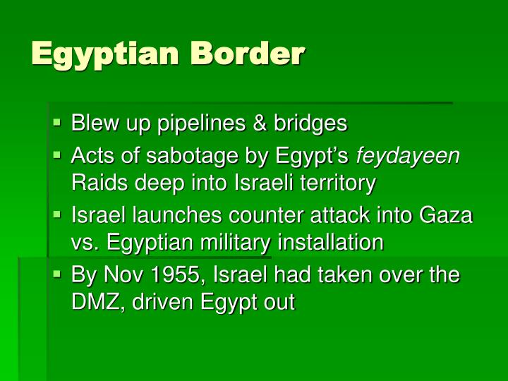 Egyptian Border