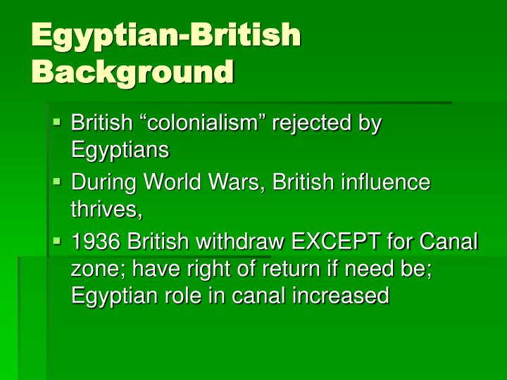 Egyptian-British Background