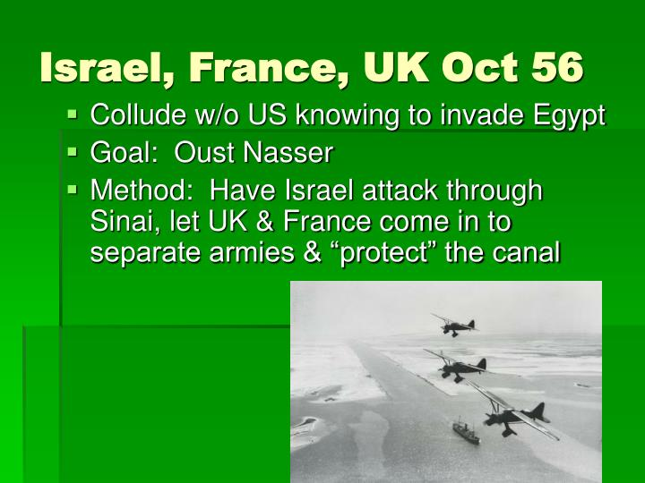 Israel, France, UK Oct 56