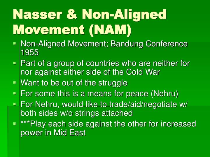 Nasser & Non-Aligned Movement (NAM)