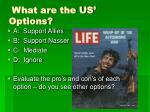 what are the us options