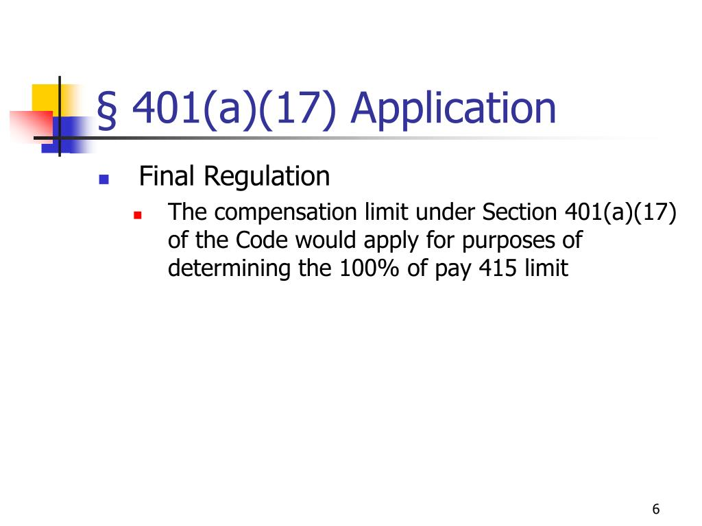§ 401(a)(17) Application