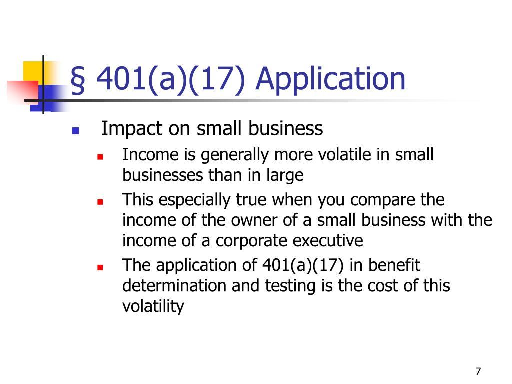 § 401(a)(17) Application