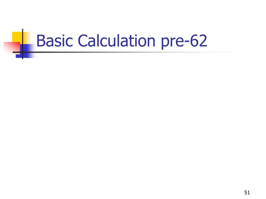Basic Calculation pre-62