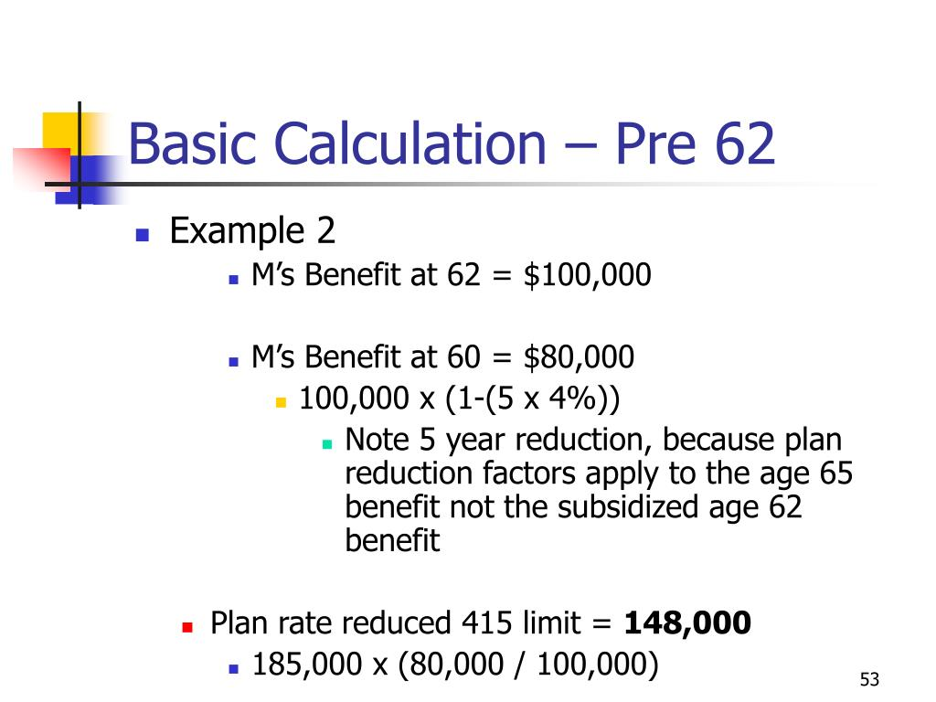Basic Calculation – Pre 62